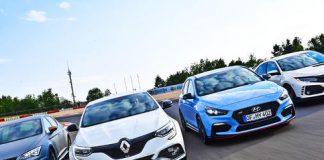 Seat Leon Cupra R, Renault Megane R.S., Hyundai i30 N Performance, Honda Civic Type R