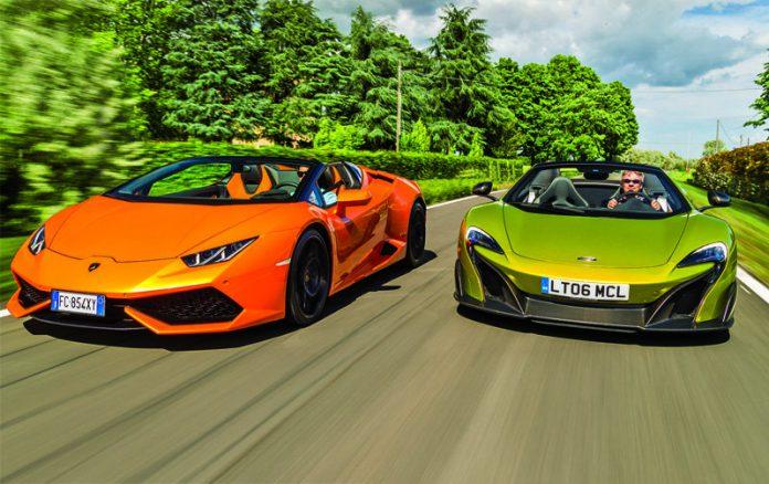 McLaren SpIder ile Lamborghini Huracan Spyder Karşılaştırması