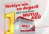 Türkiye'nin En Değerli Akü Markası 1 Numara Mutlu Akü