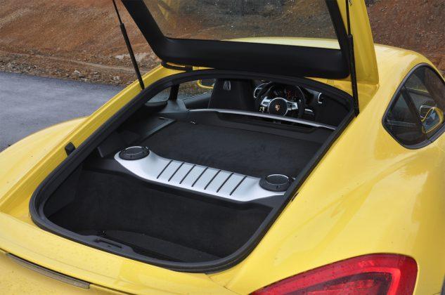 2014 Porsche Cayman bagajı