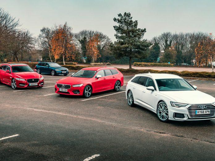 Jaguar XF & BMW 520D & Volvo V90 & Audi A6 Avant