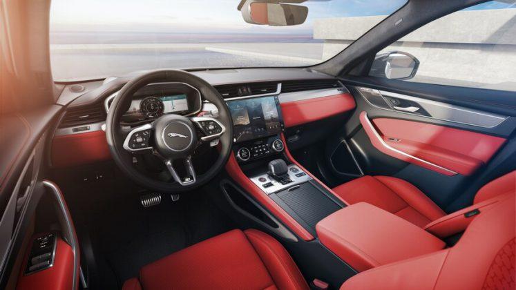 2021 jaguar f pace iç mekan