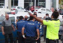 kaza sonrası trafik polisi