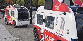 kfc sürücüsüz dağıtım ağı