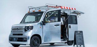 Honda N Van Honda Küçük Bir Minibüsü Kafeye Çeviriyor