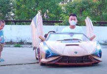 Ahşap Lamborghini Sián